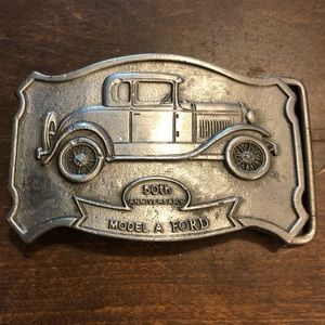 Vintage 50th anniversary Model A Ford Belt Buckle